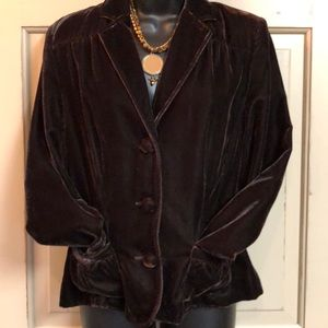 Dark Chocolate Velvet Blazer by Apt. 9